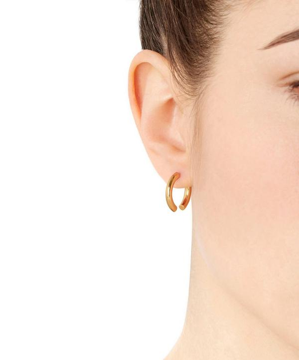 Gold-Plated Broken 18 Earring