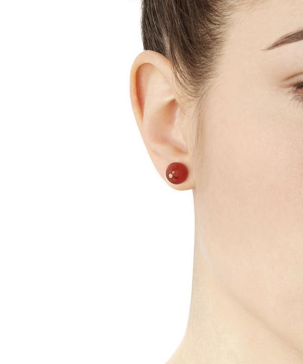 Gold-Plated Carnellian Stud Earring