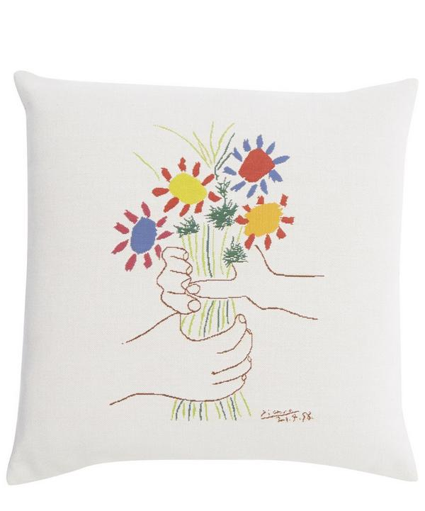 Fleurs et Mains 1958 Picasso Tapestry Cushion