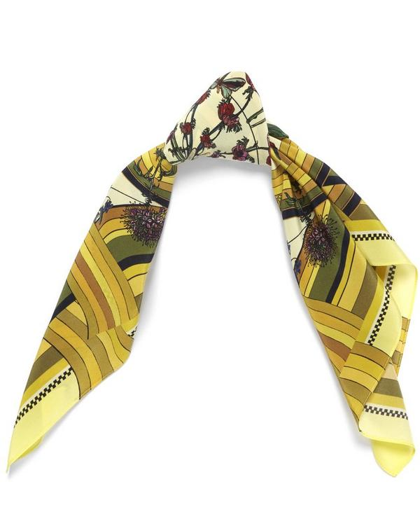 Freaky Floral Extra Small Silk Scarf
