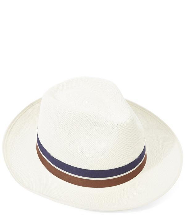 Classic Regimental Panama Hat