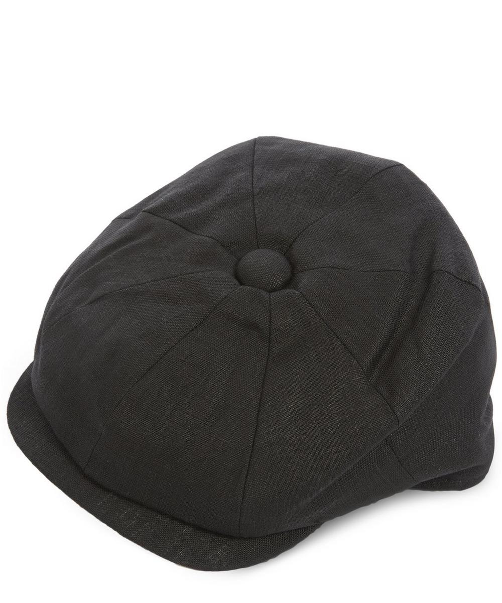 8 Piece Linen Baker Boy Hat