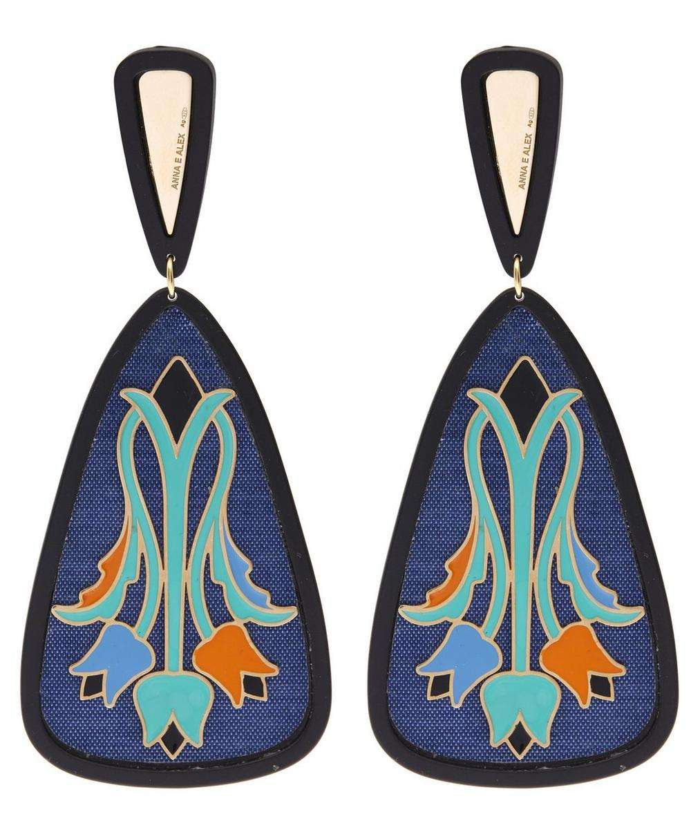 Tulipani Enamel Flower Silk Earrings