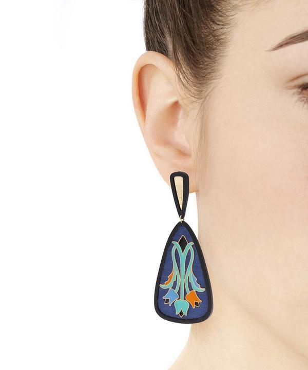 Tulipani Enamel Flower Silk Earrings