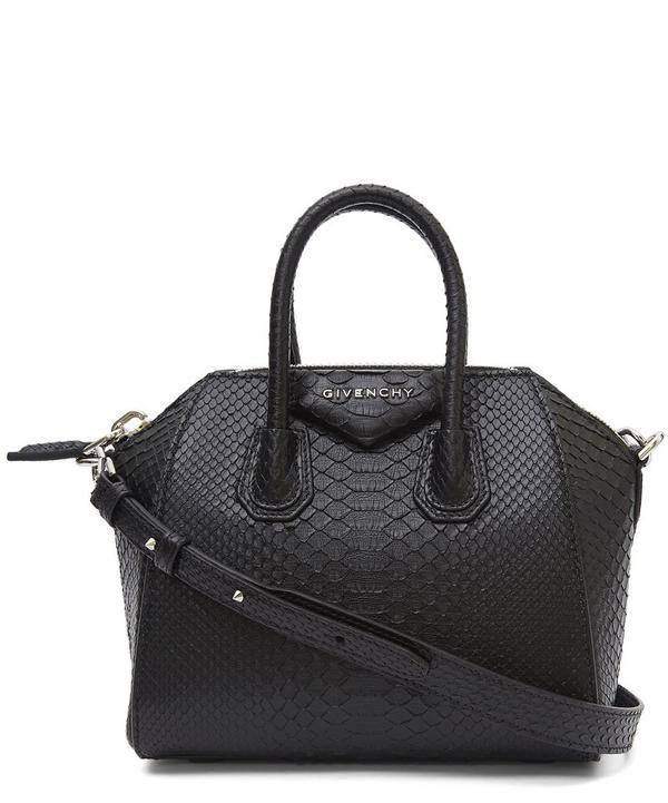 Mini Antigona Python Cross Body Bag
