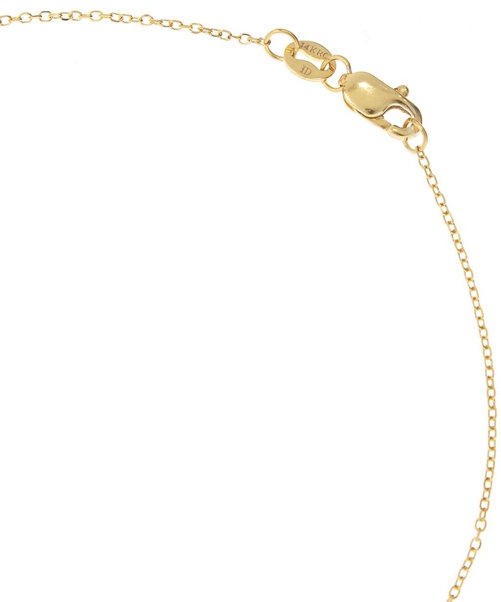Gold and Diamond Letter H Disc Pendant Necklace