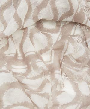 Wool and Silk Squiggle Plaid Shawl