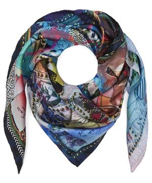 Love Letters Square Silk Scarf