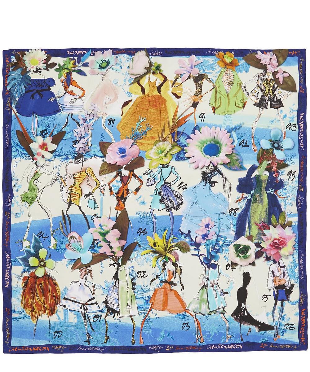 Les Filles en Fleur Silk Scarf