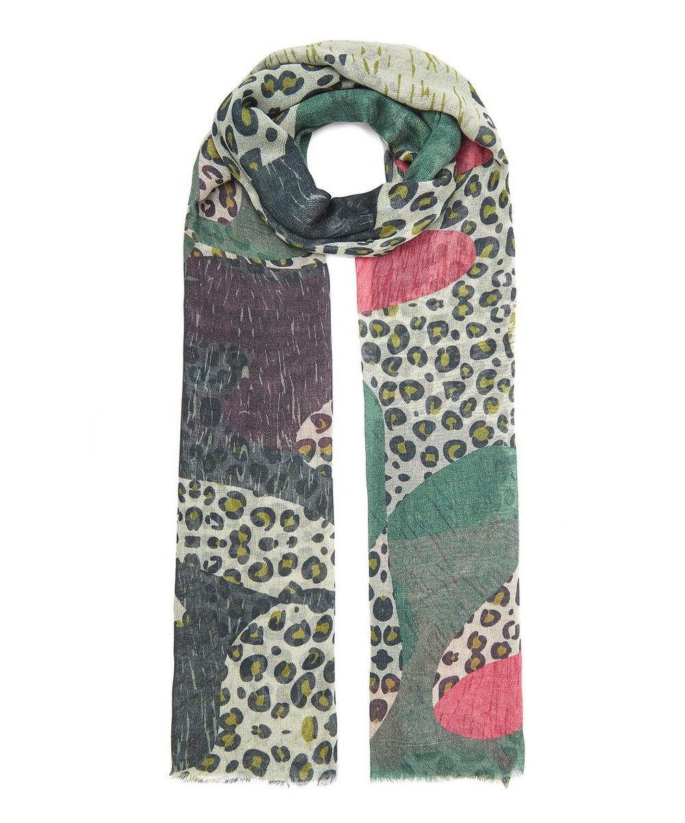 Pieced Leopard Cashmere Shawl