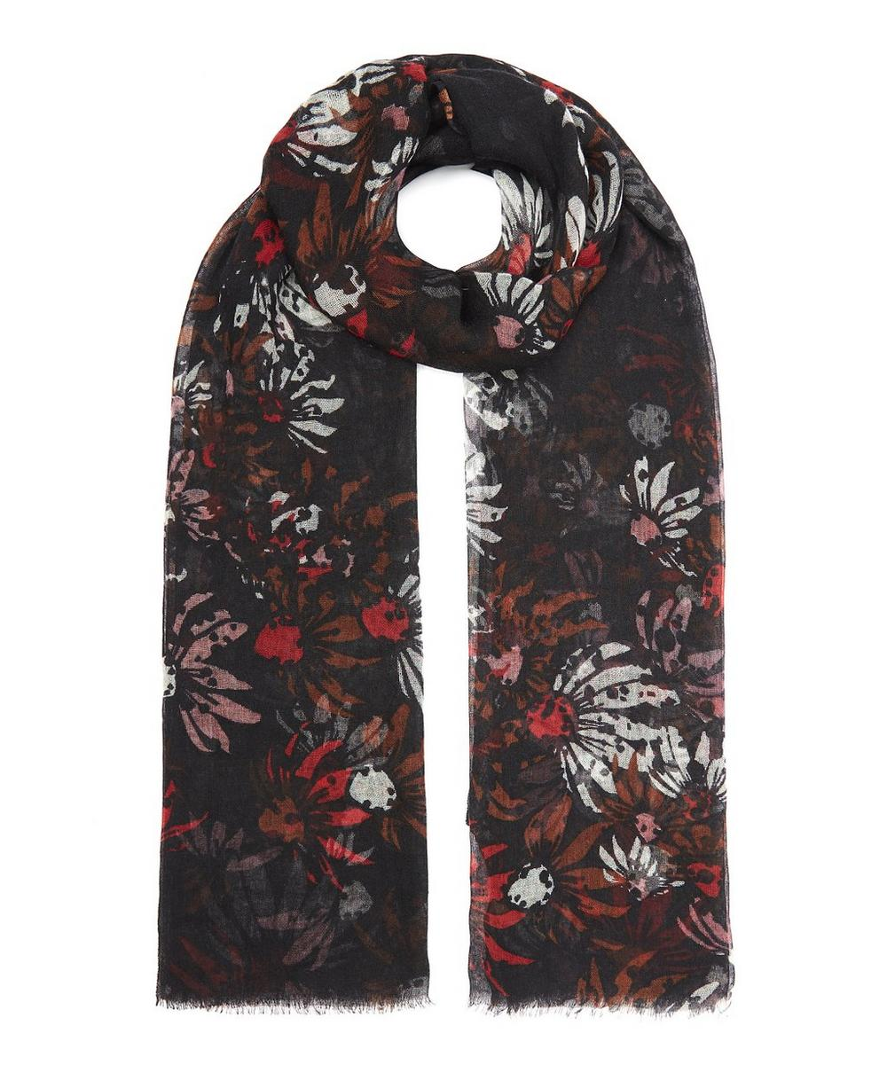 Spotted Flower Cashmere Shawl