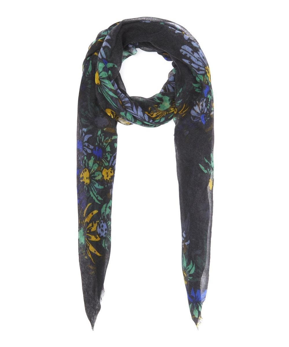 Spotted Floral Cashmere Scarf