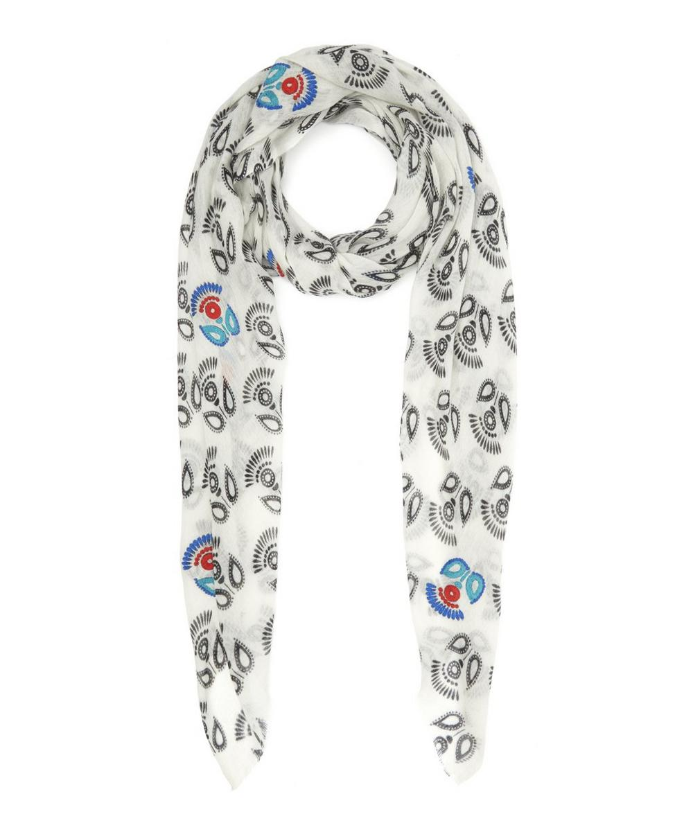 Print Floral Cashmere Shawl