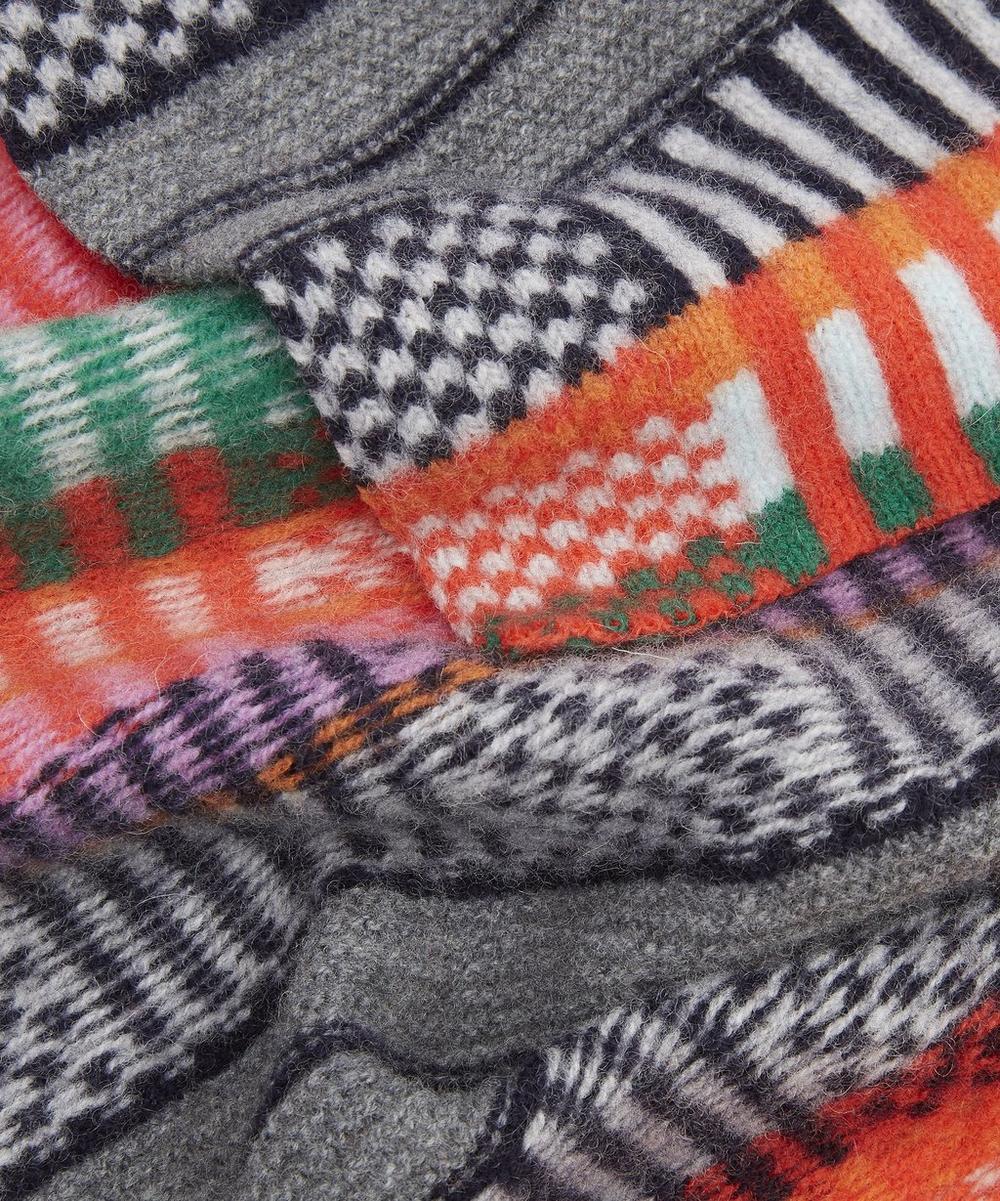 Rainbow Grid Scarf