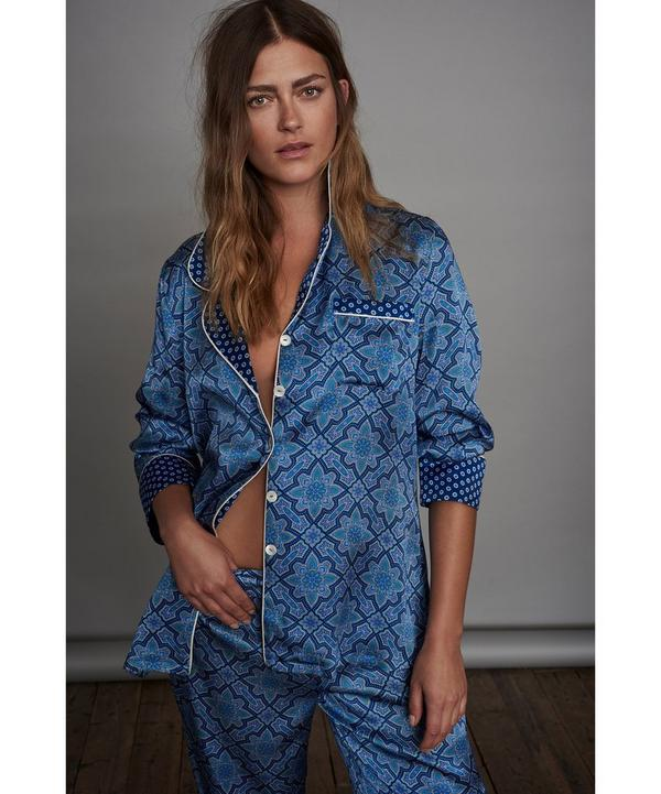 Indiana Long Silk Pyjama Set
