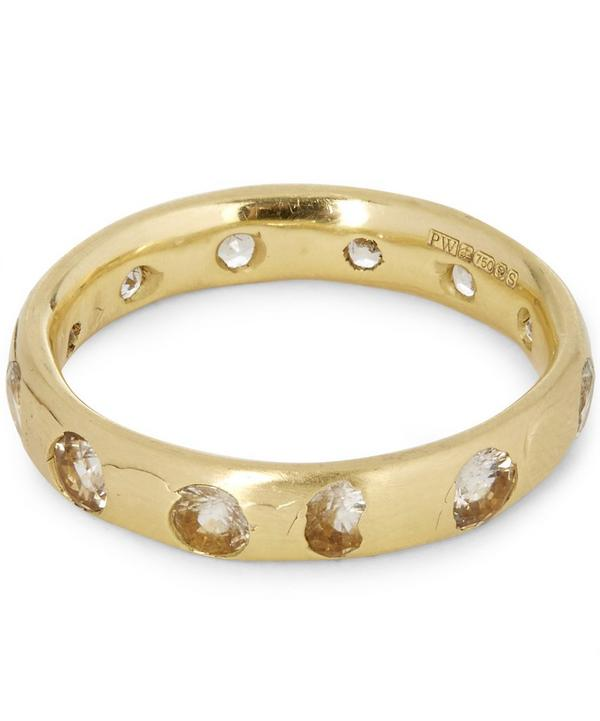 Gold White Sapphire Ring