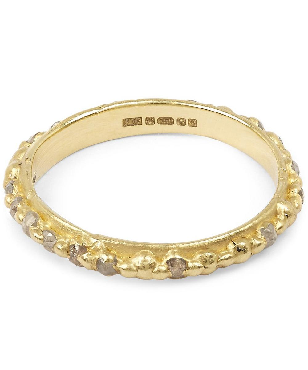 Gold Grey Diamond Eternity Ring