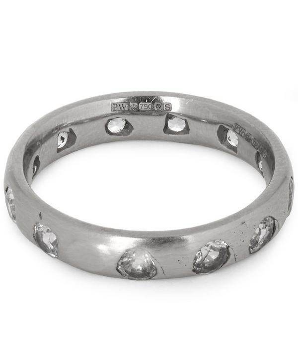White Gold White Sapphire Ring