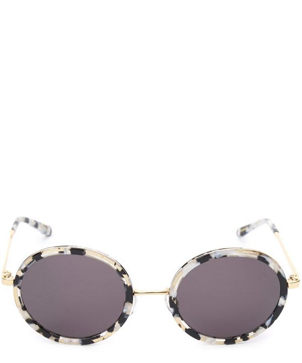 Gold-Plated Louisa Round Sunglasses