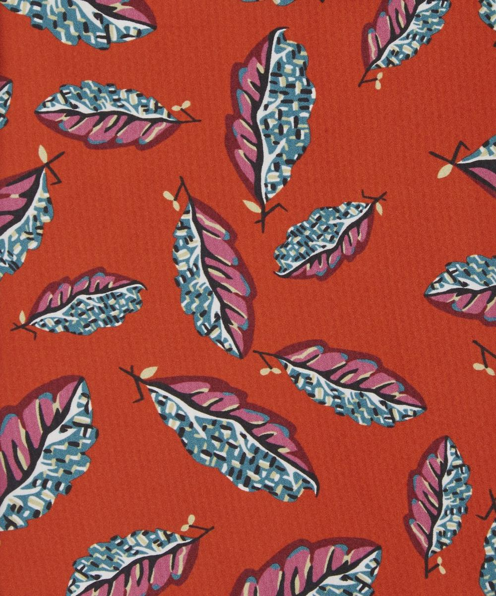 Woven Leaves Clemments Hammered Satin