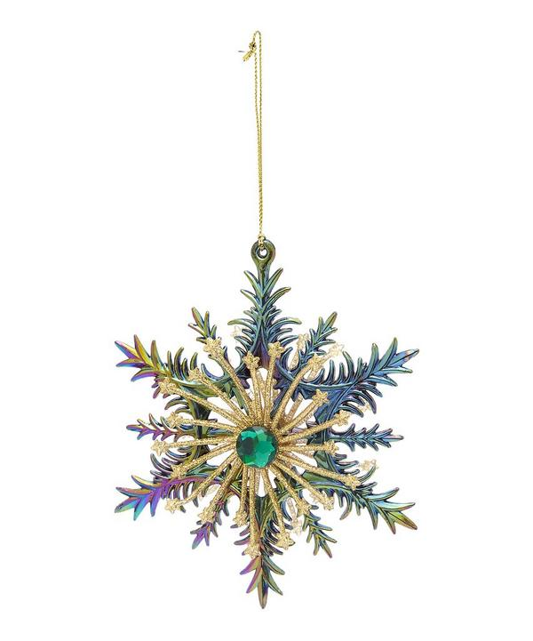 Peacock Snowflake Decoration