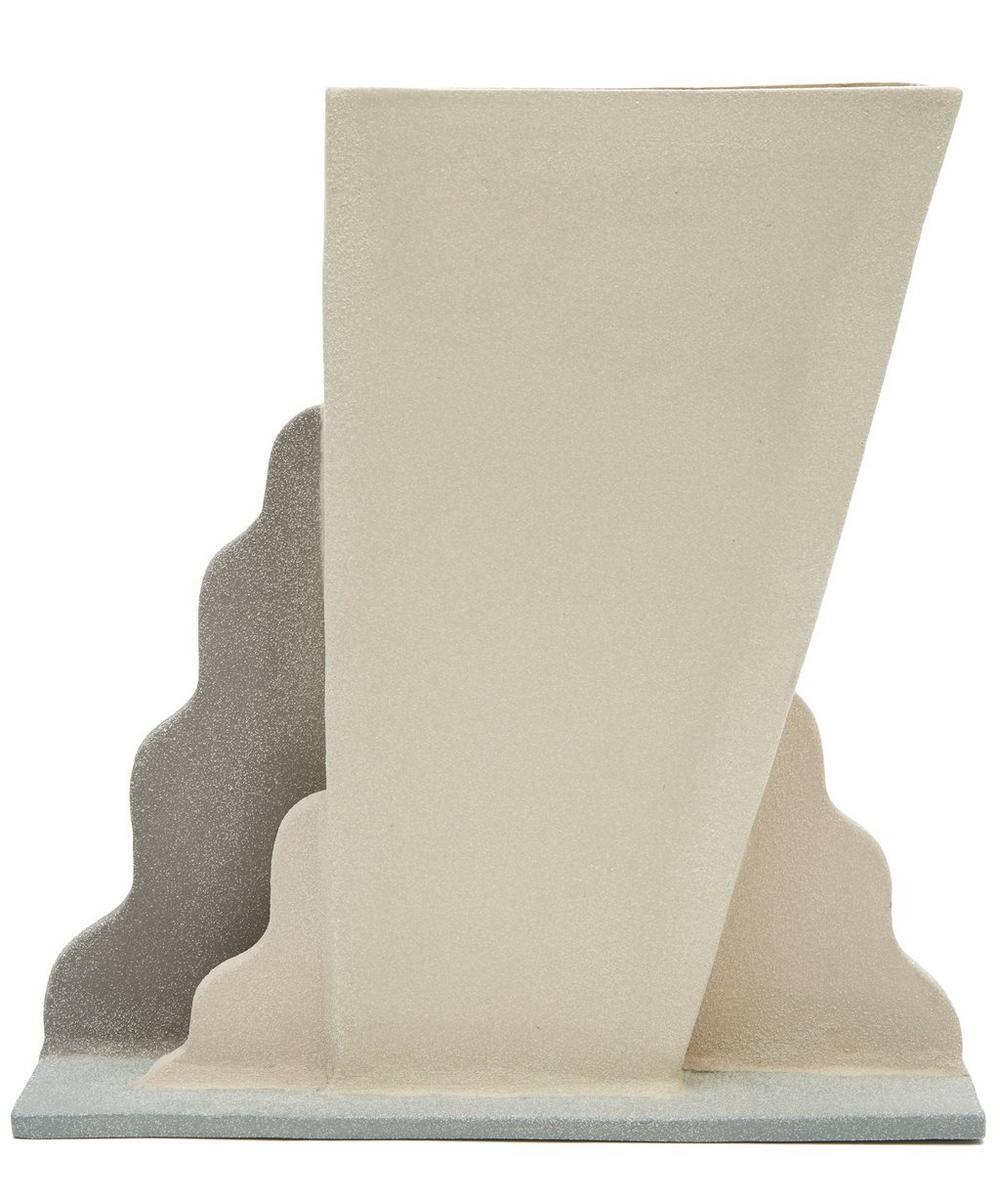 Angular Winged Clay Vase