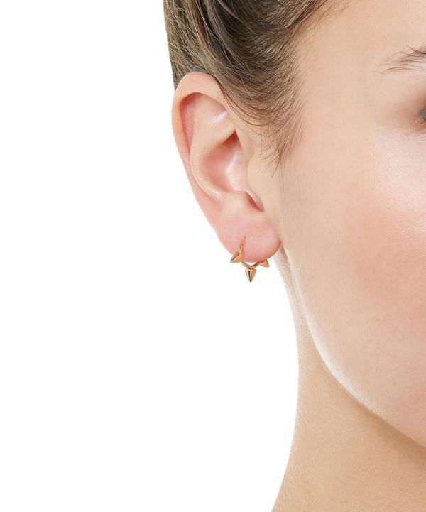 "1/4"" Gold Small Triple Spike Earring"