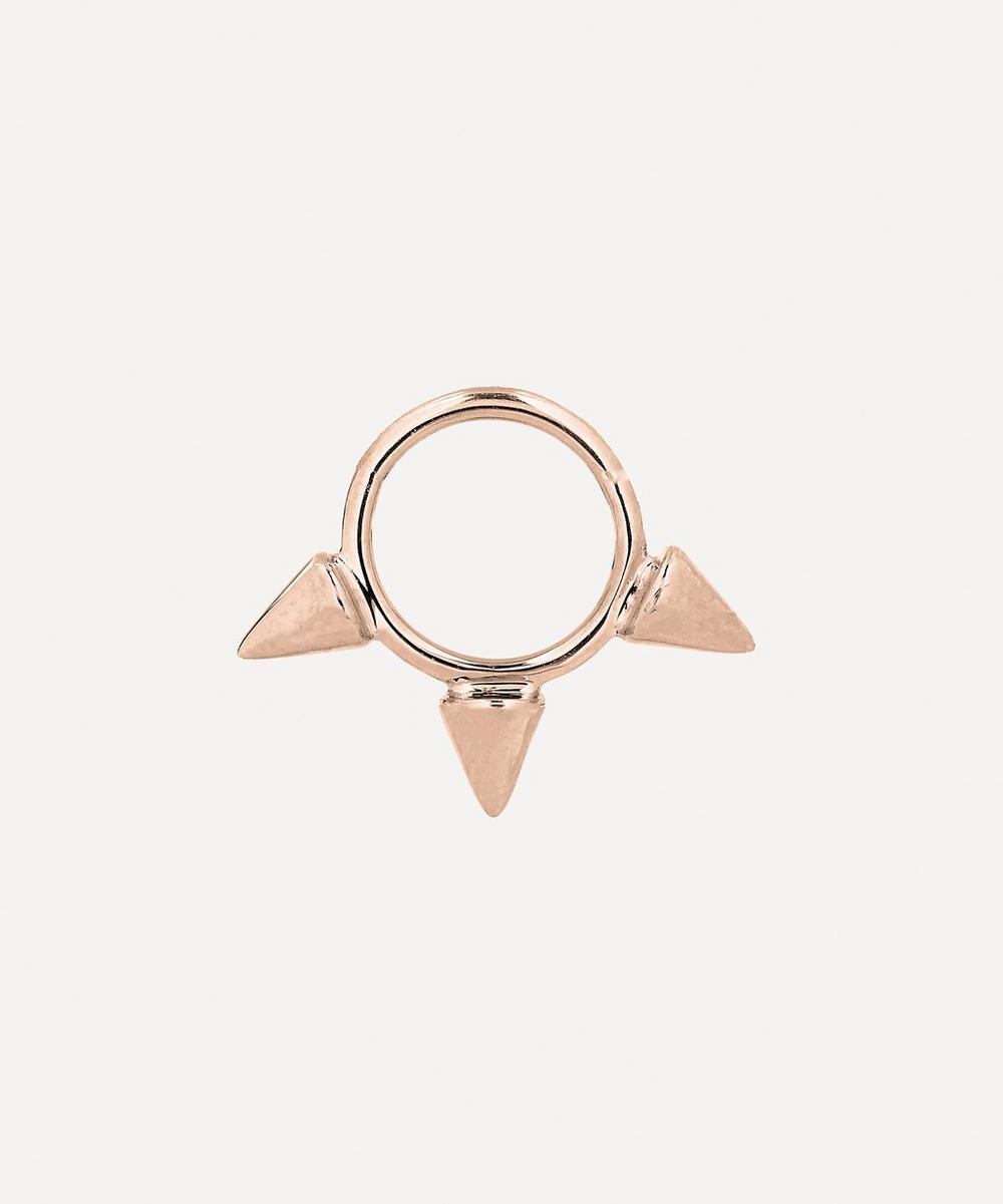 1/4' Gold Small Triple Spike Earring