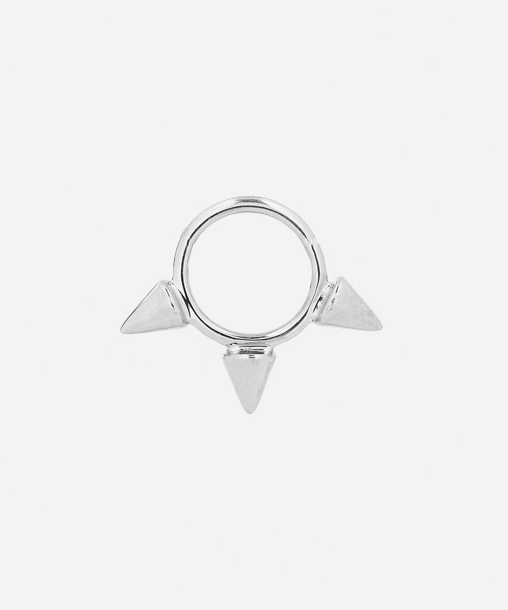 1/4' Triple Spike Non-Rotating Hoop Earring