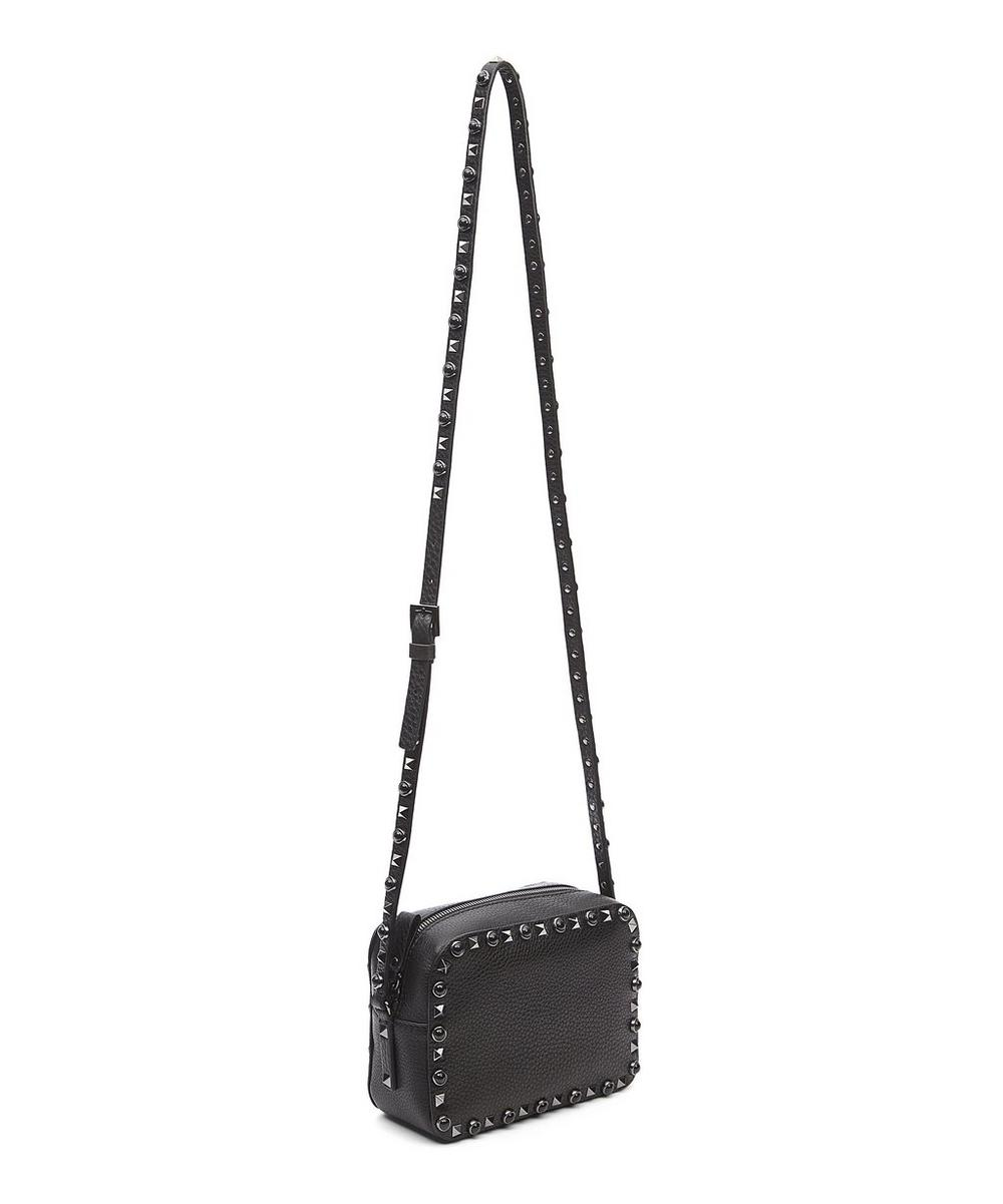 Rolling Rockstud Camera Crossbody Bag