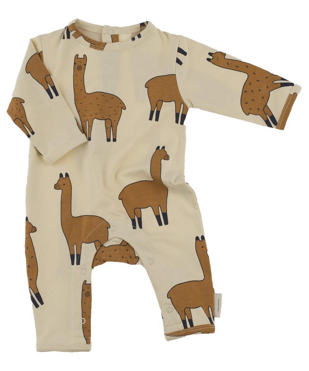 Llama Printed Long Sleeve One-Piece