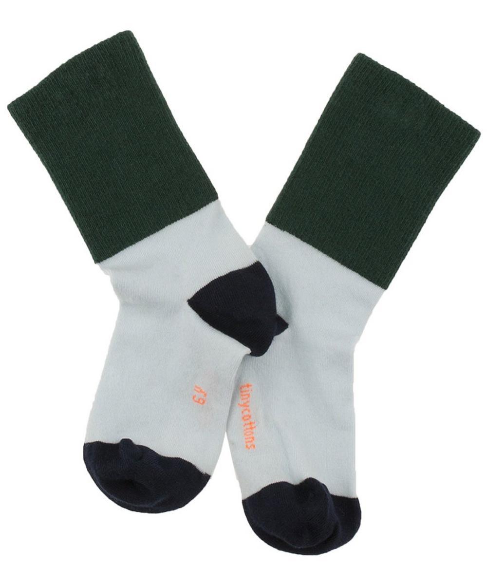Ribbed Medium Colour Block Socks