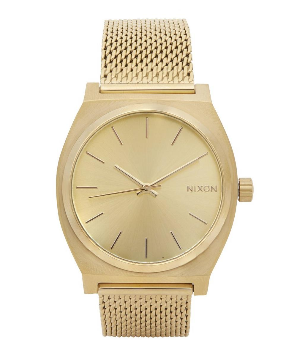 Time Teller Milanese Gold-Tone Watch