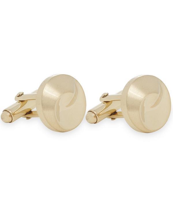 Swirl Gold Round Cufflinks