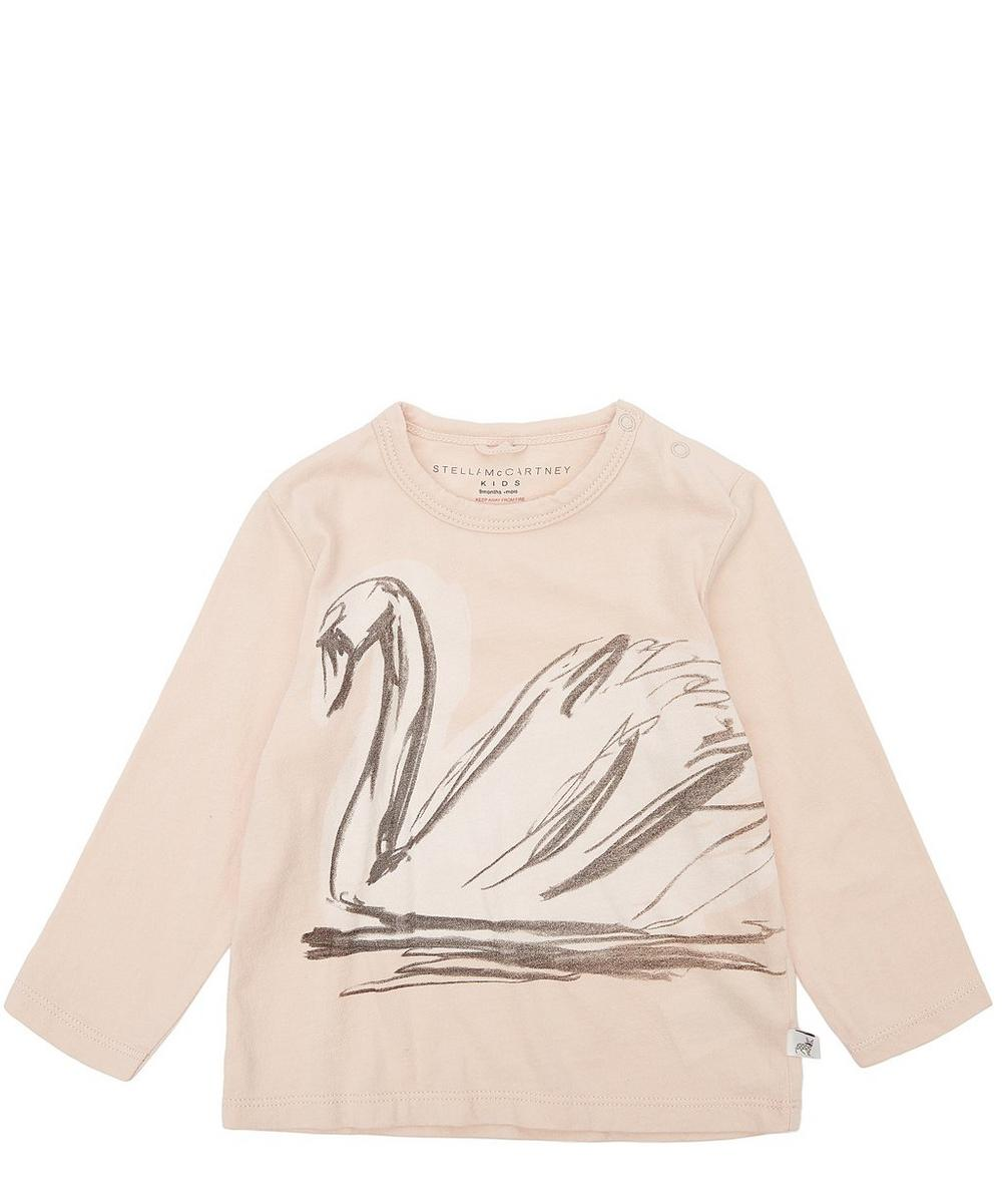 Georgie Swan Print Long Sleeve T-Shirt