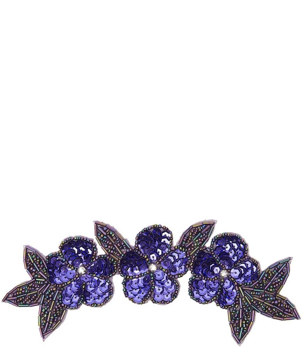 Flower and Leaf Sequin Motif