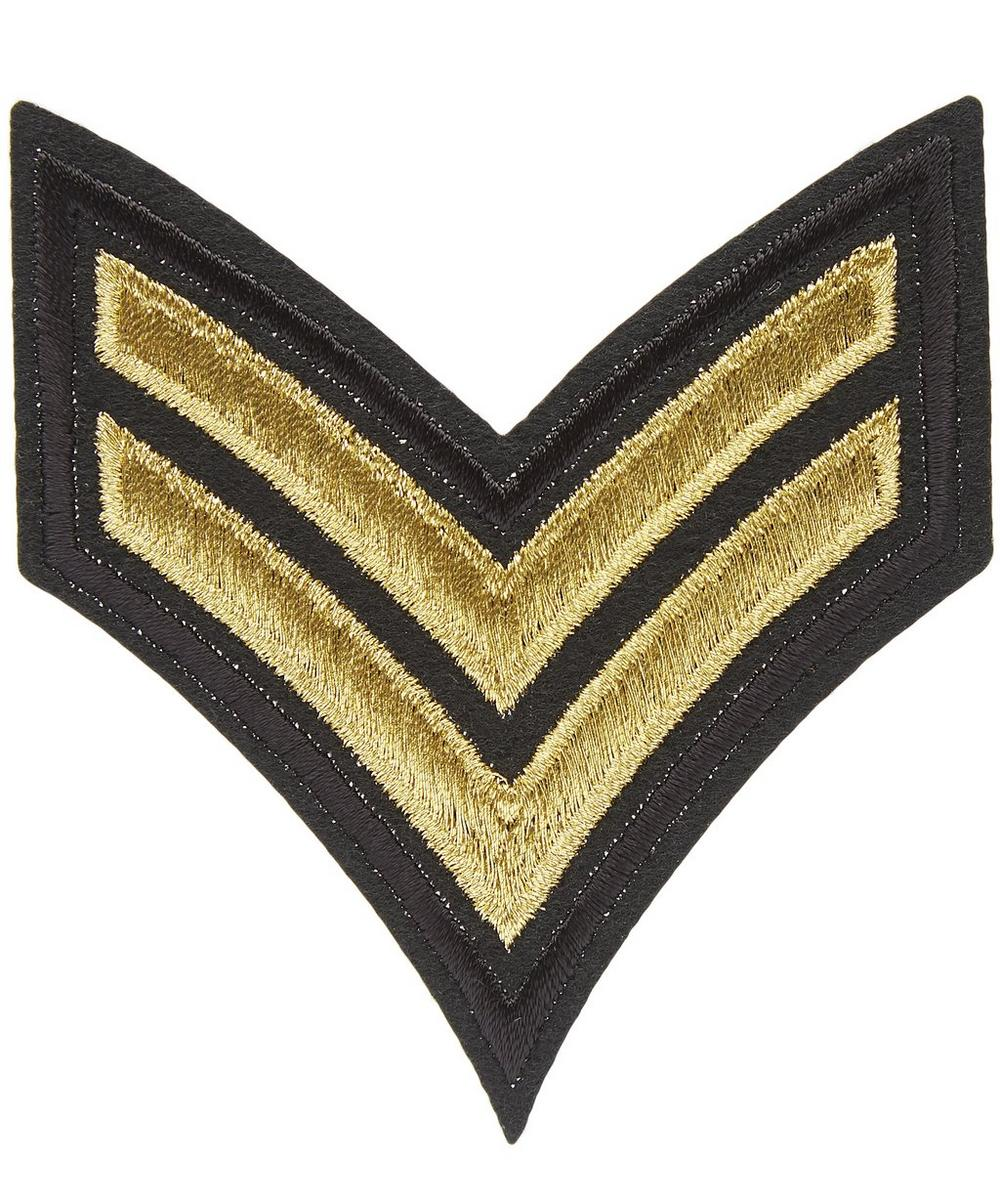 Military Two Stripe Motif Badge