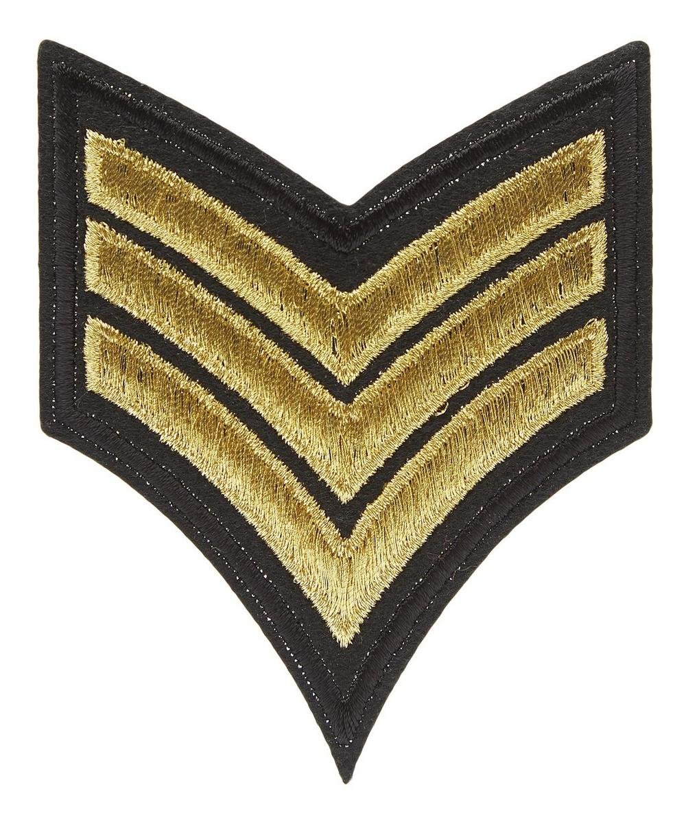 Military Three Stripe Motif Badge