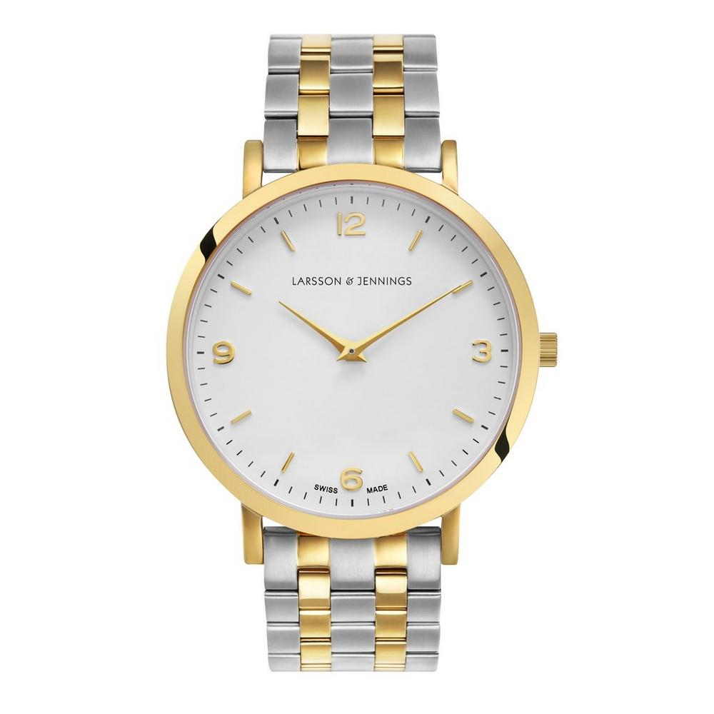 Lugano 38mm Gold and Silver Watch