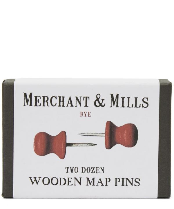 Wooden Map Pins