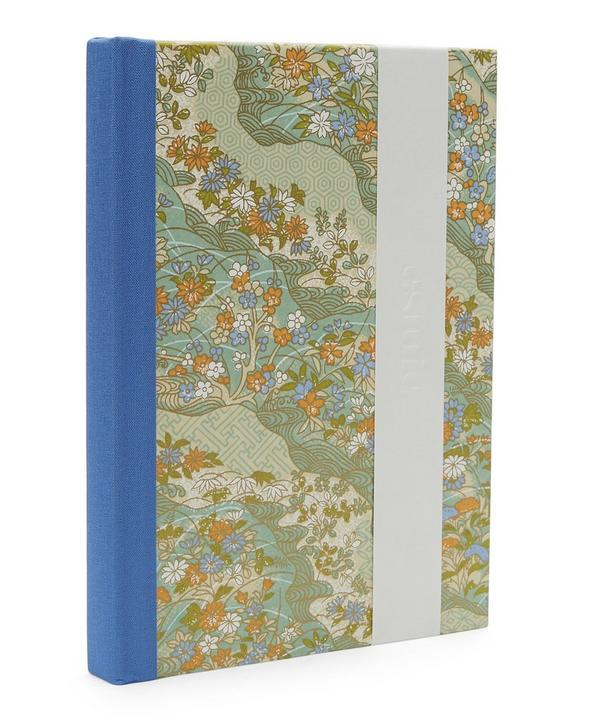 Blue and Orange Flowers Medium Journal