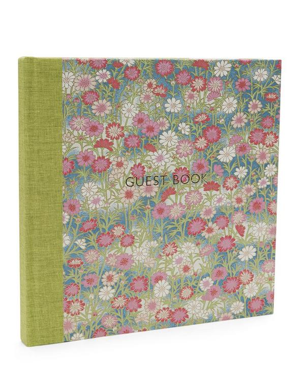 Pink and Red Daisies Guest Book