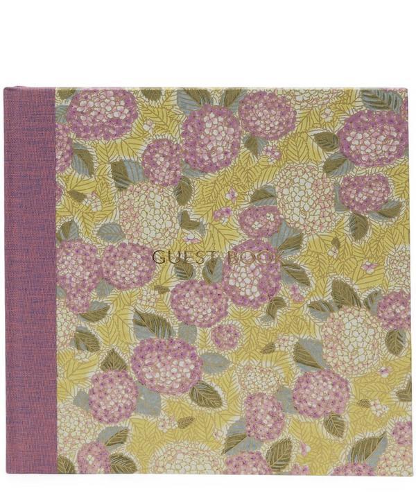 Purple Hydrangeas Guest Book