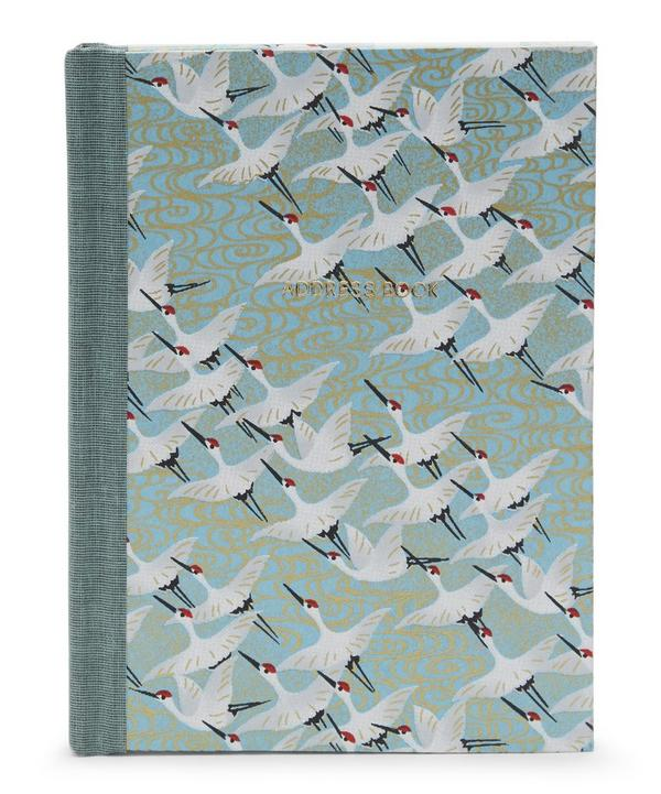 White Cranes Pocket Address Book