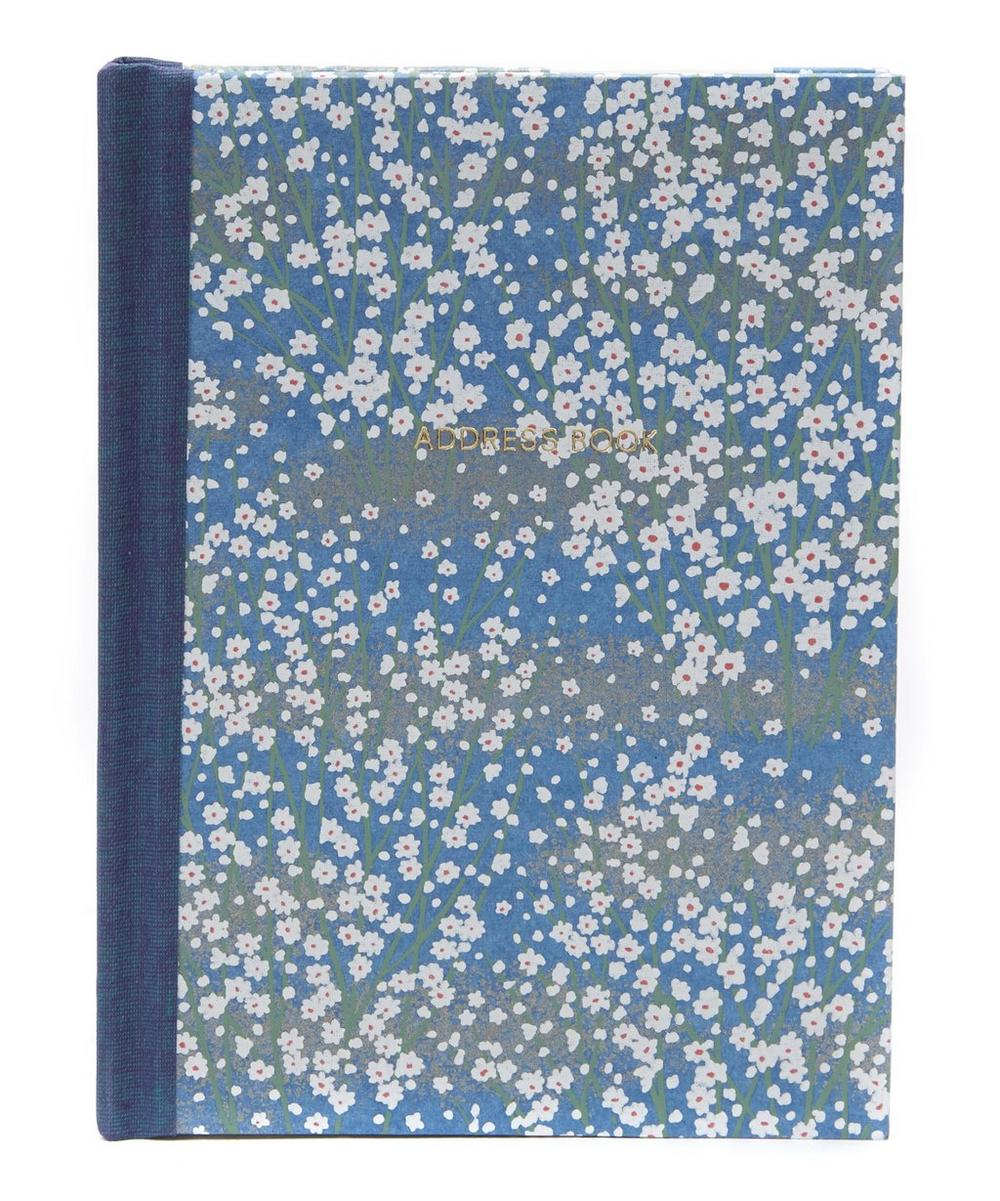 White Blossom Pocket Address Book