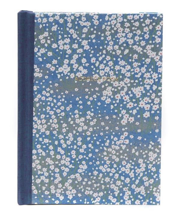 White Blossom Pocket Address Book