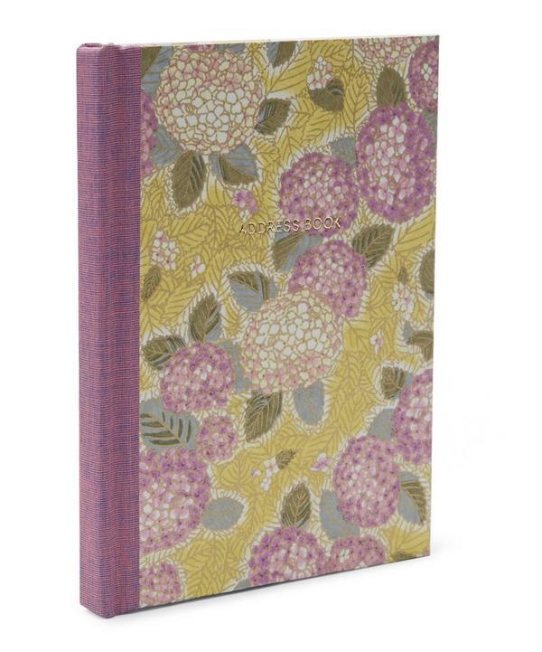Purple Hydrangeas Pocket Address Book