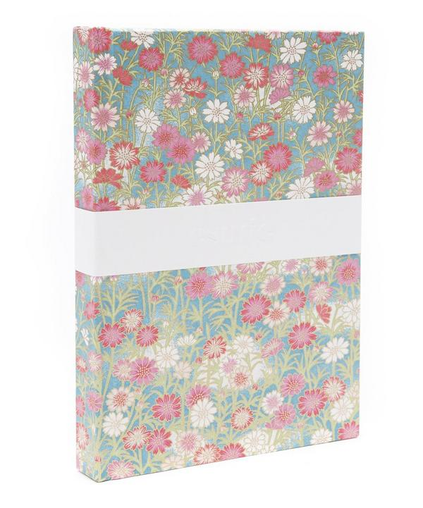 Pink and Red Daisies Medium Notebook