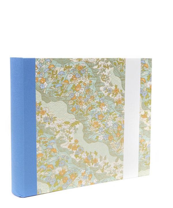 Blue and Orange Flowers Medium Landscape Album
