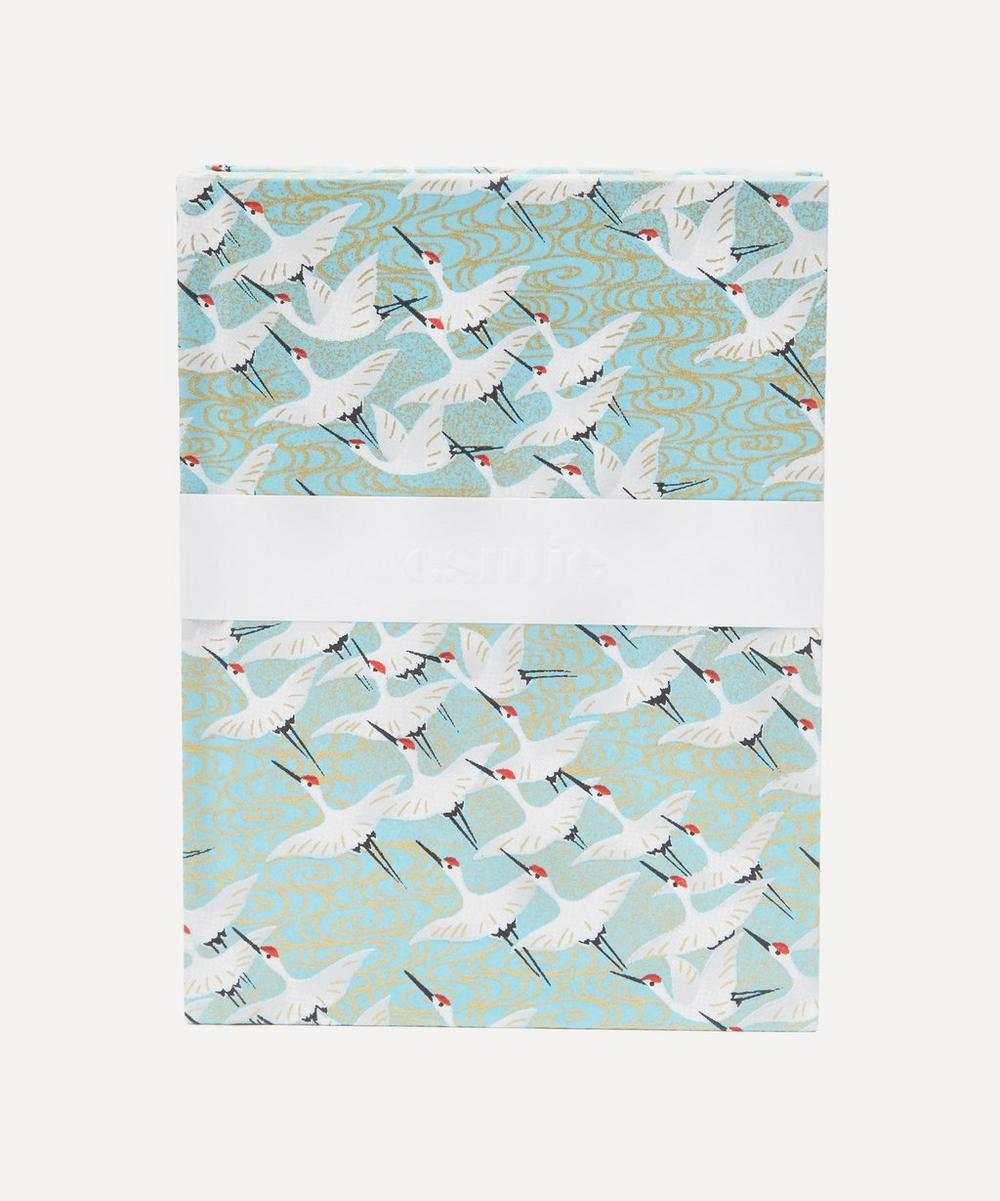 Esmie White Cranes Small Notebook